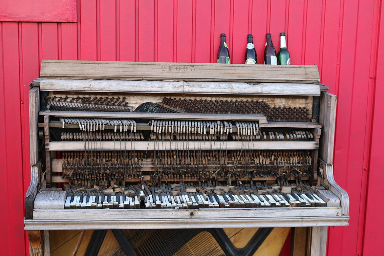 Klavier auf dem Tempelhofer Feld