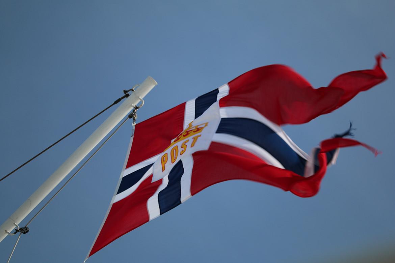Norwegische Postflagge