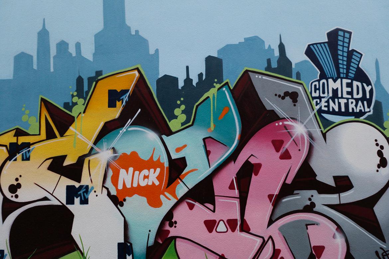 Graffiti an der Fernsehwerft