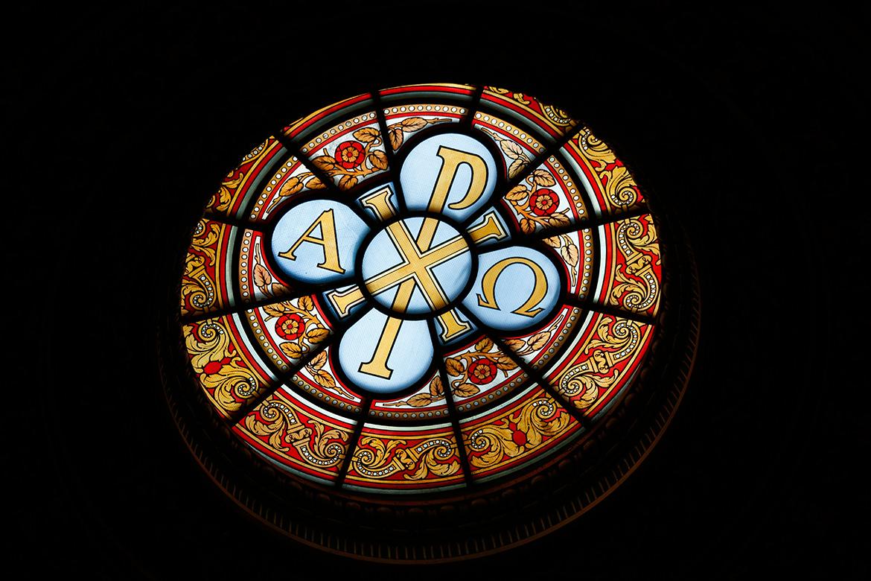 Buntglasfenster im Berliner Dom