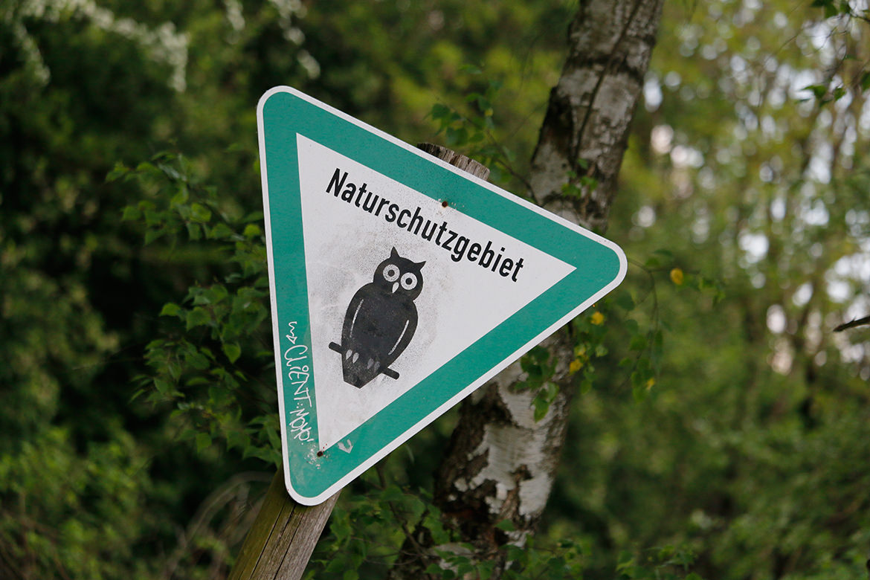 Naturschutzgebiet-Schild