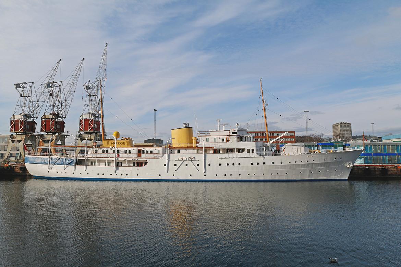 Yacht des norwegischen Königshauses in Oslo