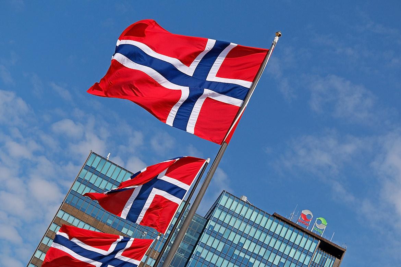 Norwegische Fahnen